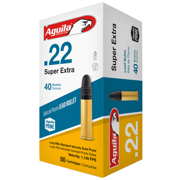 Aguila Super Extra 22 LR 40GR Solid Point Ammunition 50 Rounds
