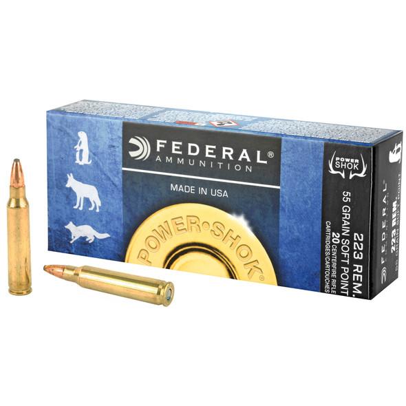 Federal Power-Shok 223REM 55gr SP Ammunition 20rds