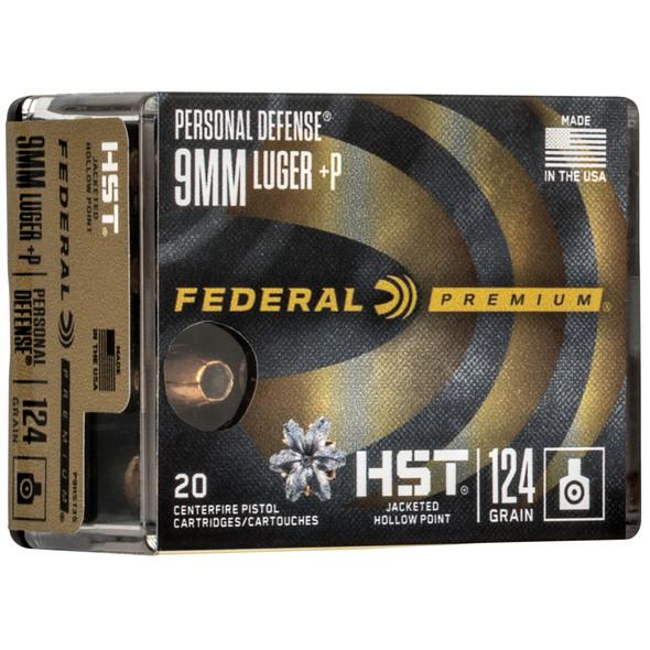 Federal Premium Personal Defense HST 9mm 124gr JHP Ammunition 20rds