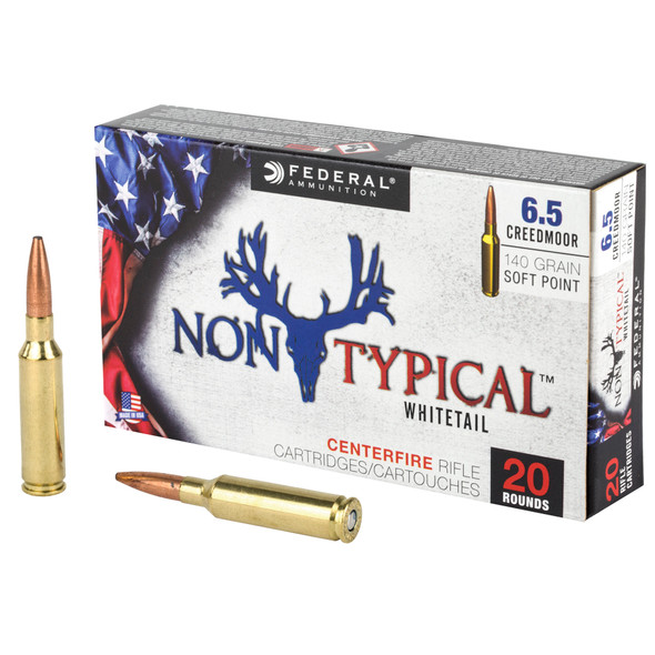 Federal Non-Typical Whitetail 6.5 Creedmoor 140gr Soft Point Ammunition 20rds