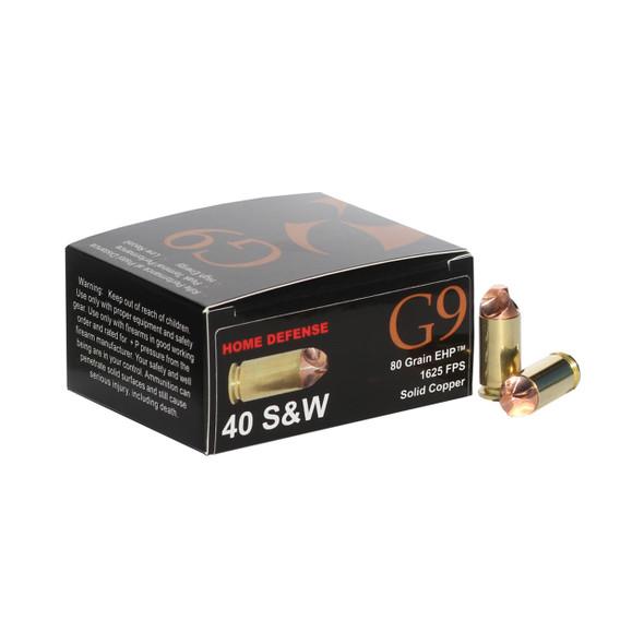 G9 40SW 80gr External HP Ammunition 20rds