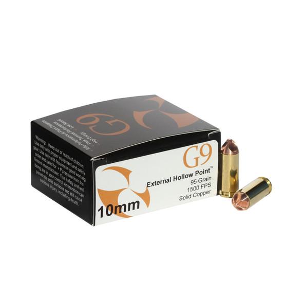 G9 10mm 95gr External HP Ammunition 20rds