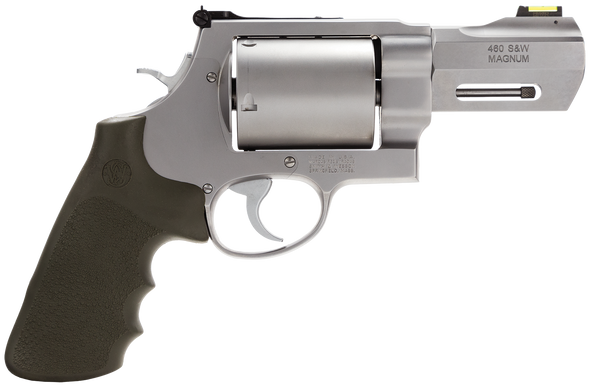 """Smith & Wesson 170350 Performance Center 460 XVR 460 S&W Mag 5rd 3.50"""" Stainless Matte Silver Stainless Steel Black Polymer Grip"""
