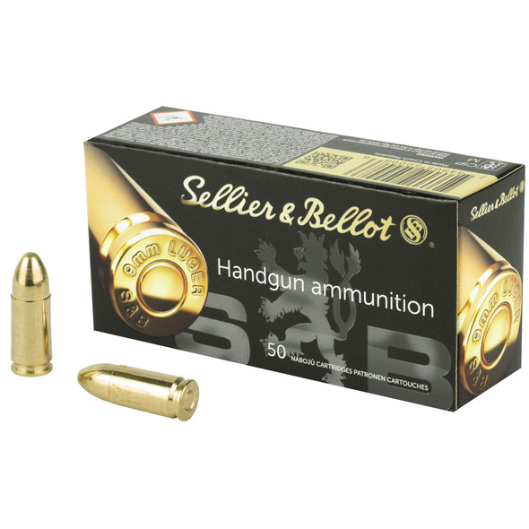 S&B 9mm 115gr FMJ Ammunition 50rds
