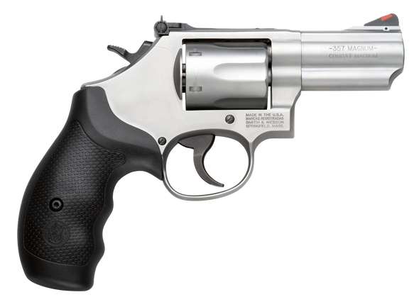 """Smith & Wesson 10061 66 Combat 357 Mag 6rd 2.75"""" Stainless Steel Black Polymer Grip"""