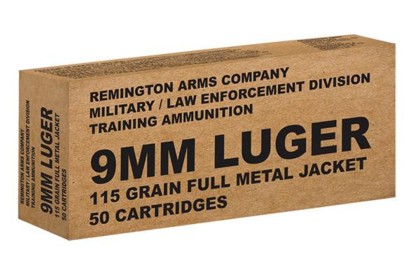 Remington 9mm 115gr FMJ Ammunition 50rds