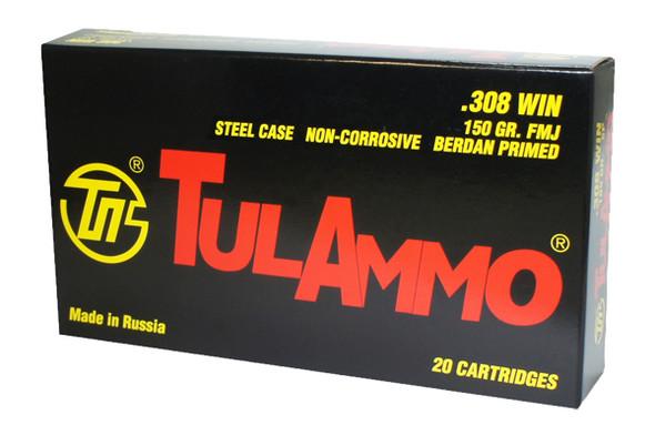 Tul 308WIN 150gr FMJ Ammunition 20rds