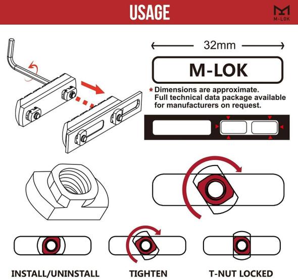 Battle Steel MLOK ARCA Rail Adapter