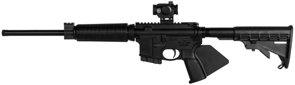 """Smith & Wesson 12938 M&P15 Sport II OR *CA Compliant 5.56x45mm NATO 16"""" 10+1 Black Fixed Black Synthetic Stock Black California Paddle Grip Right Hand Crimson Trace Red Dot"""