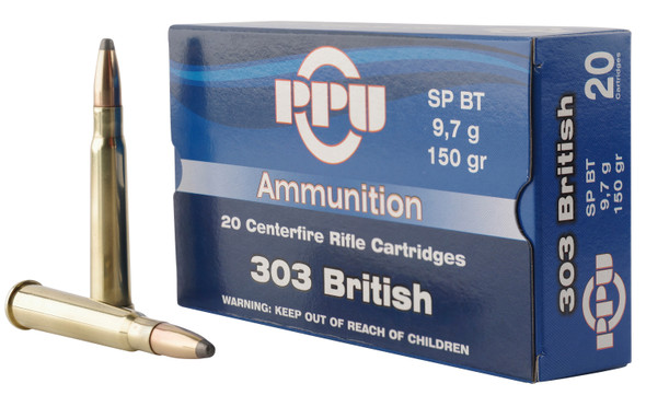 PPU 303 British 123gr SP Ammunition 20rds