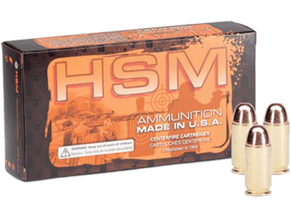 HSM 10mm 200gr FMJ Ammunition 50rds