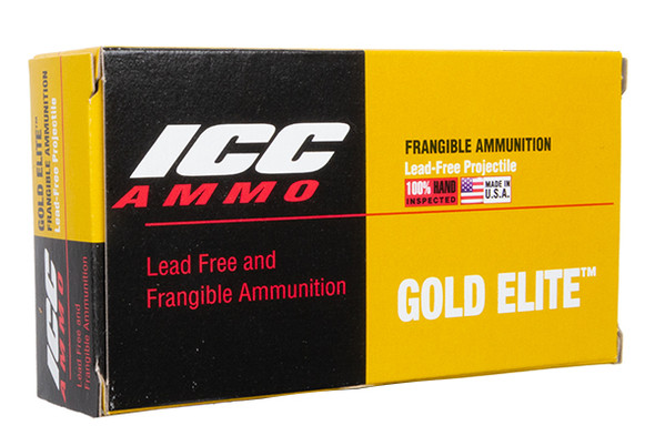 Atomic ICC 9mm 100gr Frangible Flat Point Ammunition 50rds