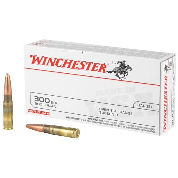 Winchester 300 Blackout Subsonic 200gr Open Tip Range Subsonic Ammunition 20rds
