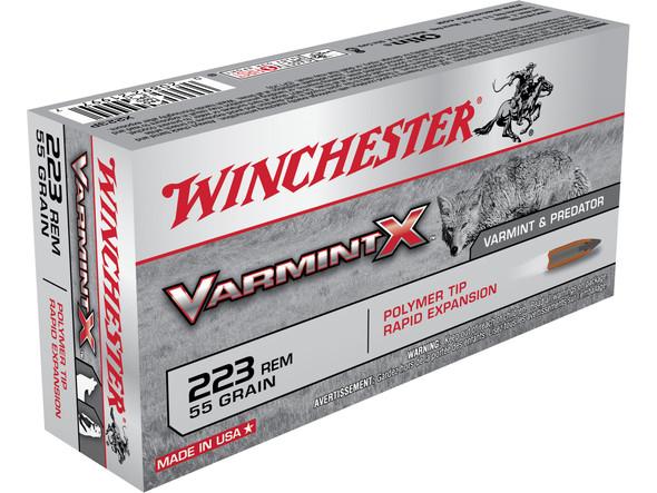 Winchester Varmint X 223REM 55gr Polymer Tip Ammunition 20rds