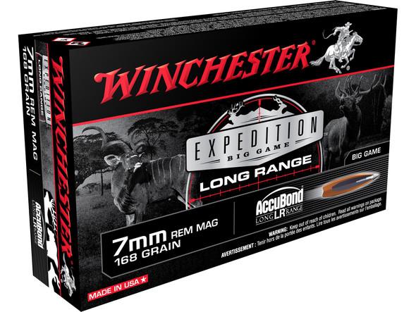 Winchester Expedition Big Game Long Range 7mm REM MAG 168gr AccuBond Long Range Ammunition 20rds
