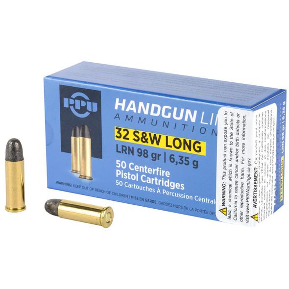 PPU 32SW Long 98gr Lead RN Ammunition 50rds