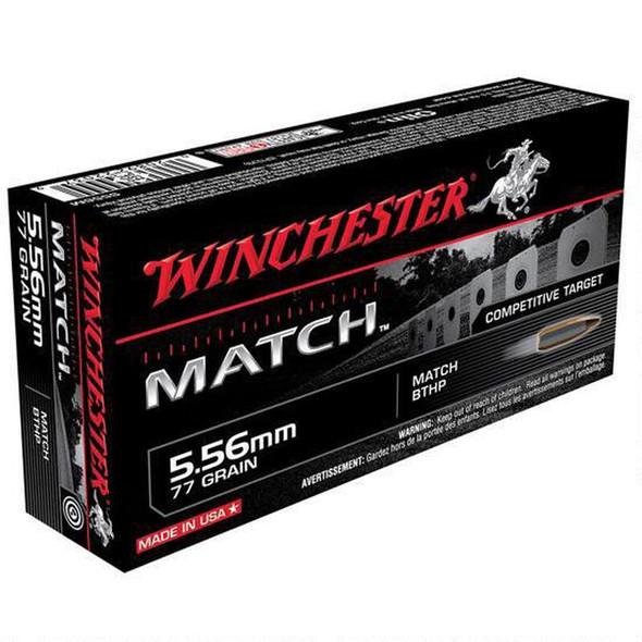 Winchester Match 5.56mm 77gr Sierra MatchKing HP Boat-Tail Ammunition 20rds