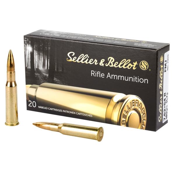 S&B 7.62X54R 180gr FMJ Ammunition Ammunition 20rds
