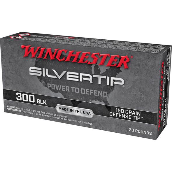 Winchester Silvertip 300 Blackout 150gr Polymer Tip  Ammunition 20rds