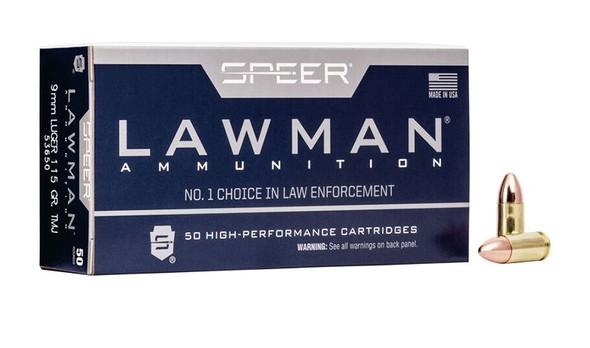 Speer Lawman 9mm 115gr TMJ Ammunition 50rds