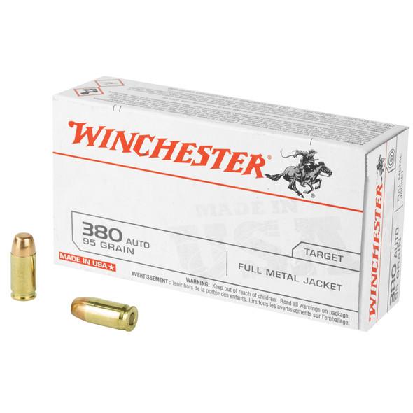 Winchester 380 ACP 95gr FMJ Ammunition 50rds