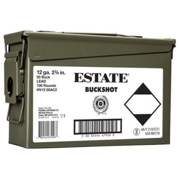 Federal Estate Buckshot 12ga 9 Pellet 00 Buck 100rds