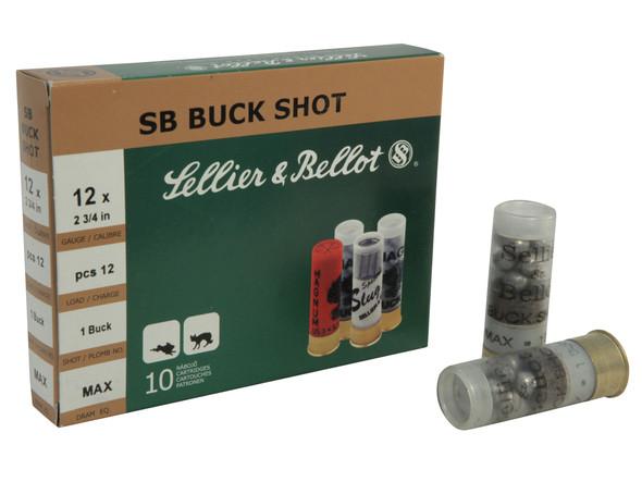 S&B 12GA 00 Buck 12 Pellets Ammunition 10rds