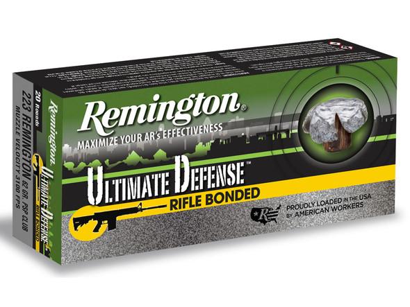 Remington Ultimate Defense .223 Remington 62gr Core-Lokt Ultra Bonded PSP Ammunition 20rds