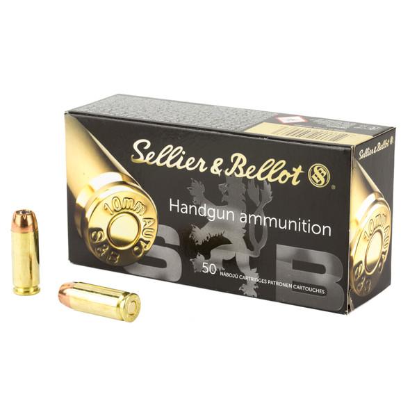S&B 10mm Auto 180gr JHP Ammunition 50rds