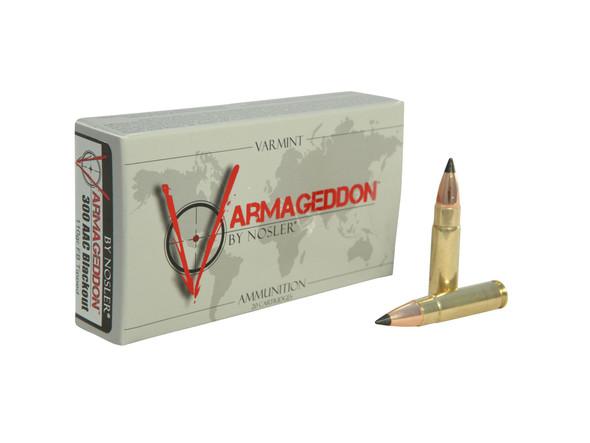 Nosler Varmageddon 300 AAC Blackout 110gr Polymer Tip Flat Base Ammunition 20rds