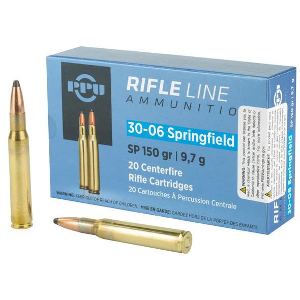 PPU .30-06 Springfield 150gr Soft Point Ammunition 20rds