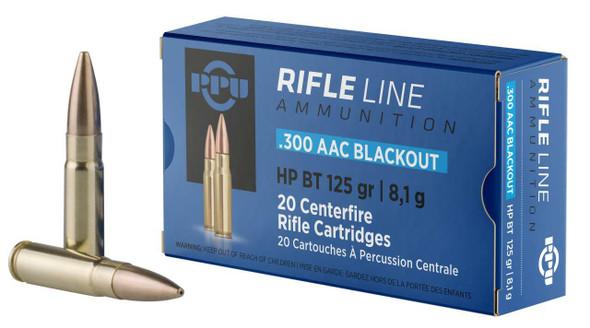 PPU .300 AAC Blackout FMJ 125gr Ammunition 20rds