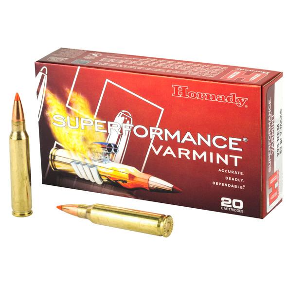 Hornady Superformance .223 Remington 53gr V-Max Ammunition 20rds