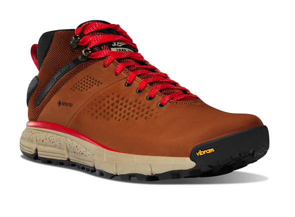 Danner Trail 2650 Mid GTX Brown/Red Hiking Shoes 61249