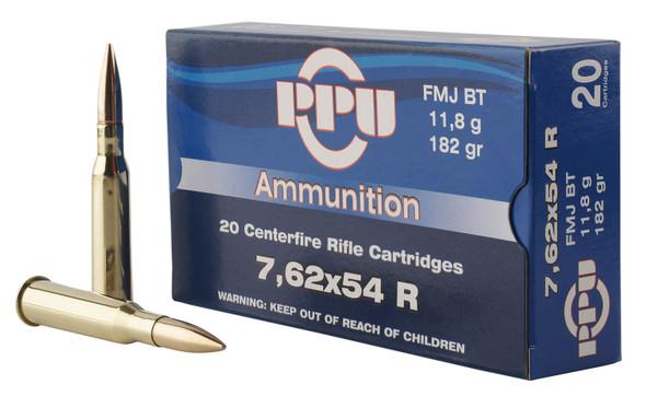 PPU 7.62x54mm 182gr FMJ Ammunition 20rds