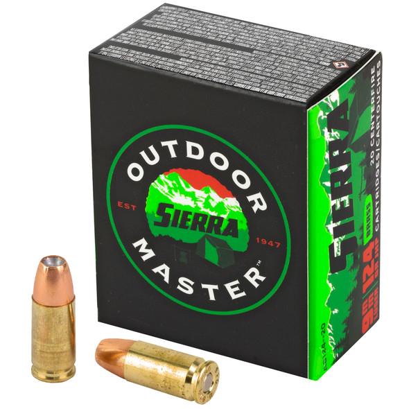 Sierra Outdoor Master 9mm 124gr JHP Ammunition 20rds