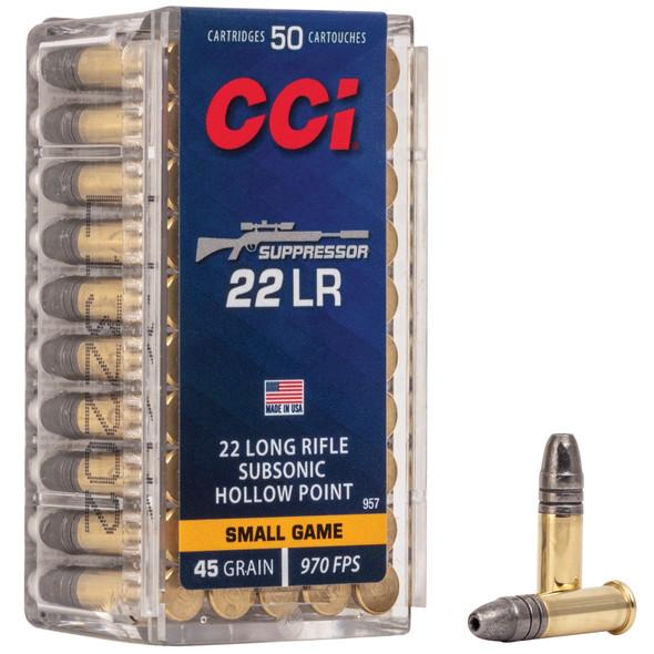 CCI Suppressor 22 LR 45gr HP Ammunition 50rds