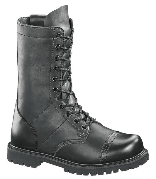 "Bates E02184 Black 11"" Leather Side Zip Paratrooper Boots"