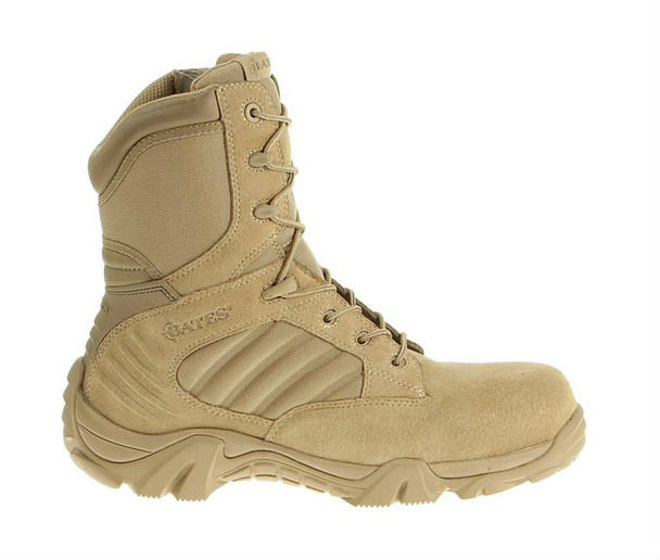 "Bates E02276 Desert Tan 8"" Leather Side Zip Boots"