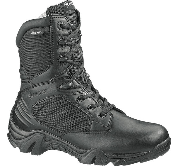 "Bates E02488 Black 8"" Insulated Side Zip Waterproof Boots"