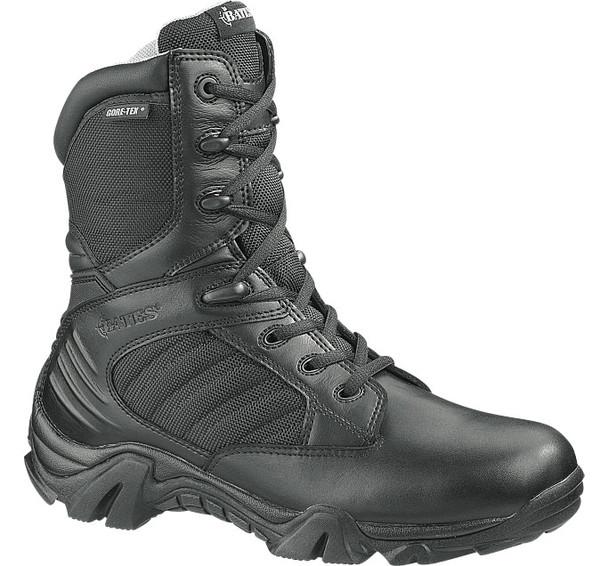 "Bates E02268 Black 8"" Leather Side Zip Waterproof Boots"