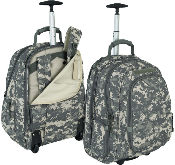 Code Alpha Army Digital Wheeled Laptop Backpack