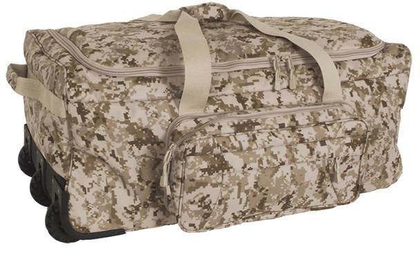 Code Alpha Marpat Desert Digital Camo Deployment/Container Bag w/ Tri-Wheel