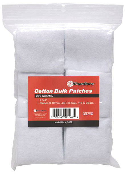 Kleenbore Cotton Bulk Patches