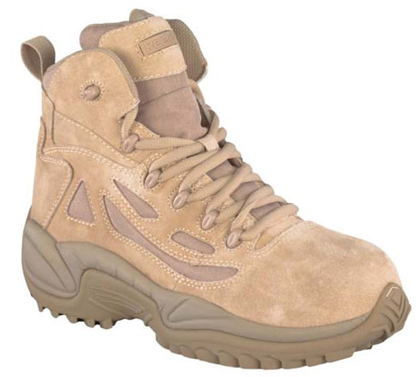 Reebok RB8694 Composite Toe Side Zip Desert Tan Boots