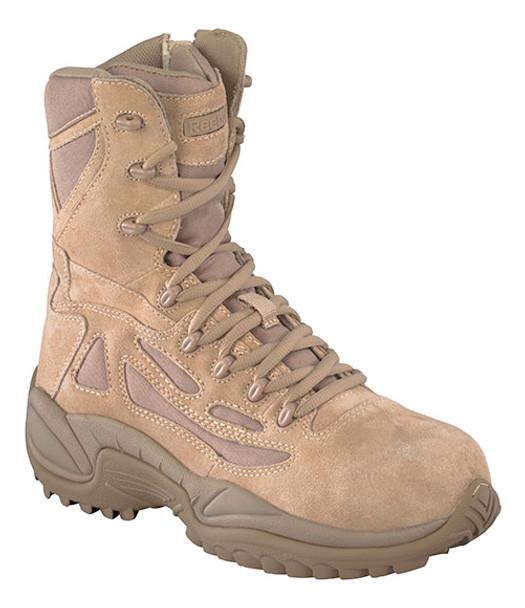 Reebok RB894 Women Side Zip Desert Tactical Safety Toe Boots