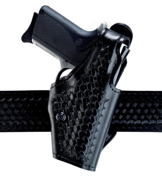 Safariland 2 Hi-Ride Level I Retention Holster for Glock 20/21/29/30 - Right Hand - Black - Plain