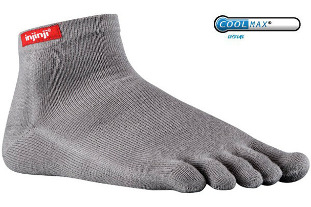 Injinji Sport Original Weight Mini-Crew Gray