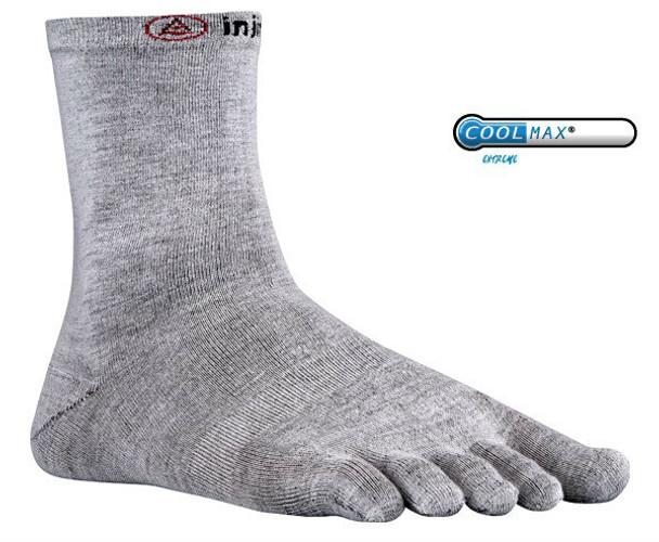 Injinji Liner Crew Socks Gray