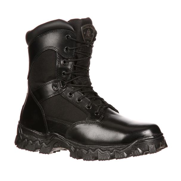 Rocky 6173 Alpha Force Duty Boots w/Side Zipper BLACK